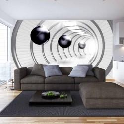 Photo mural 3d model with dark spheres model 2
