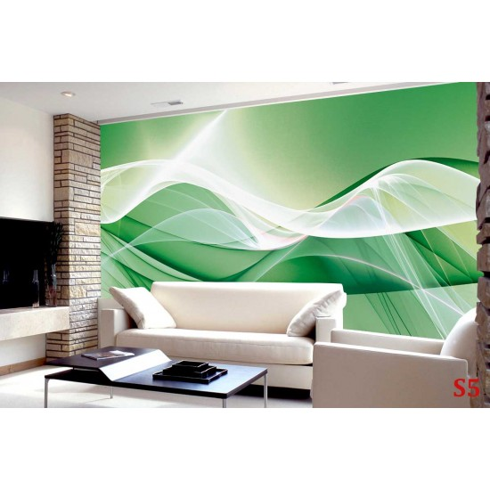 Photo mural abstraction in purple and green