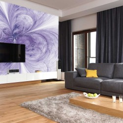 Photo mural abstraction flower in purple