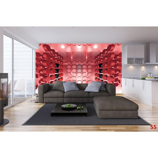 Photo mural 3D effect modern abstract in 3 colours