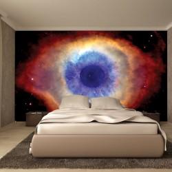 Photo mural cosmic eye in brown