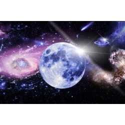 Photo mural cosmic planet with pink and blue shade