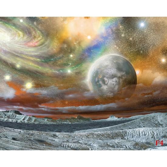 Wallpapers mural planet in orange space