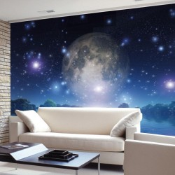 Wall mural abstract view of planet Earth and water