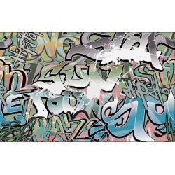 Wall mural graffiti in green