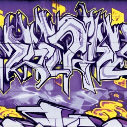 Wall -photo mural graffiti wall décor yellow lines in 2 colors