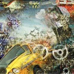 Wall photo mural art teen wall collage