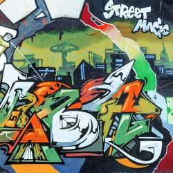 Wall mural graffiti wall street magic in 2 colors