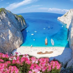 Photo mural a beautiful view of Zakynthos Bay in Greece