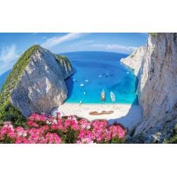 Photo mural a beautiful view of Zakynthos Bay in Greece