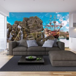 Wallpapers mural an old pirate ship