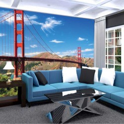 Photo mural daily view of the bridge in San Francisco 3