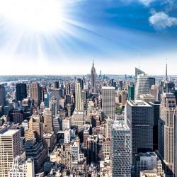 Photo mural panoramic day view of the Manhattan New York sun