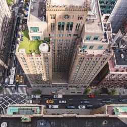 Photo mural cosmopolitan view of New York Street view from above