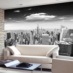 Wall murals Manhattan tower view in gray