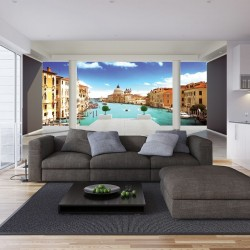 Photo mural room view with Venice 3d effect