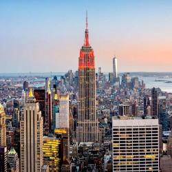 Photo mural city view of Manhattan New York Lights