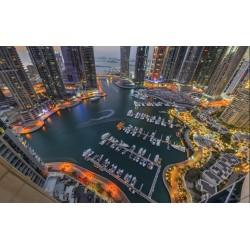 Photo mural beautiful views of the Dubai Marina quay