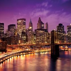 Wallpapers brooklyn bridge view at night
