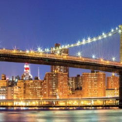 Wallpapers brooklyn bridge beautiful view at night