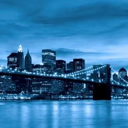 Photo mural Brooklyn bridge view in 2 colors