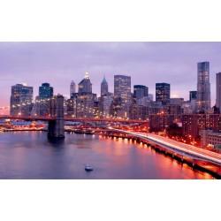 Photo mural beautiful Manhattan seashore view