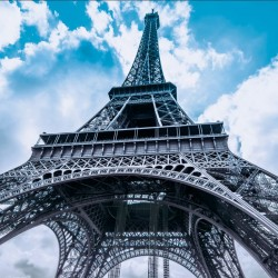 Wall murals Eiffel Tower in 2 options background