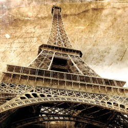 Wall murals The eiffel tower vintage style retro style