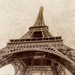 Wall murals the Eiffel Tower background beige plaster