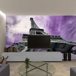 Photo murals Eiffel tower in purple background