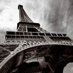 Photo mural Eiffel tower in grey background