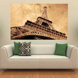 Photo mural Eiffel tower in vintage style