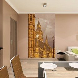Photo mural London tower view in beige