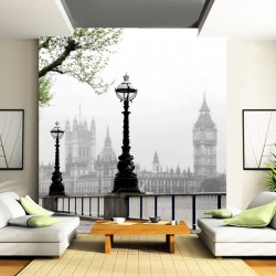 Photo mural view from London in a fog