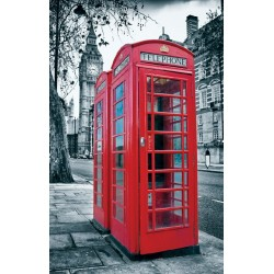 Photo mural view from London telephone booth