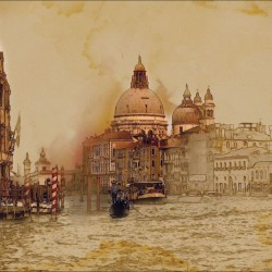 Wall murals Venice painted picture on canvas
