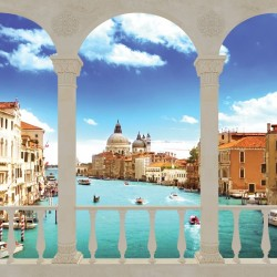 Wallpapers sunny view of Venice in columns
