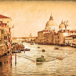 Wallpapers Venice Grand Canal prematurely old effect in 2 colors