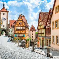 Photo mural ancient emblematic square from Rothenburg Germany