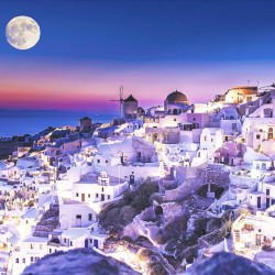 Photo murals Santorini beautiful night view