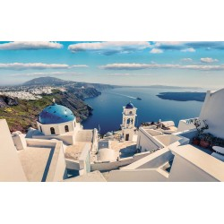 Photo murals wonderful view of Santorini close up