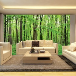 Photo mural green Forest model 4