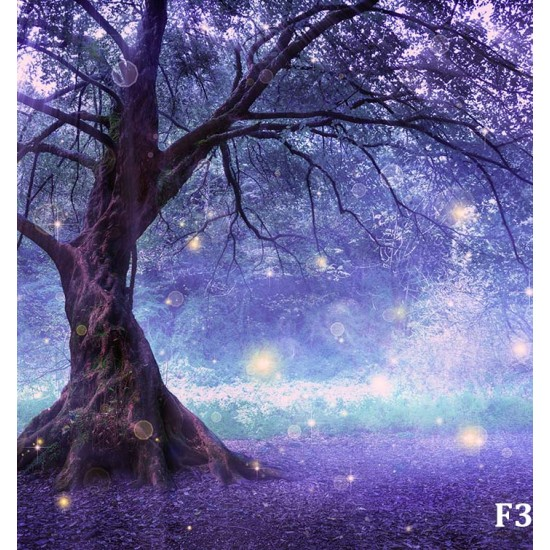 Photo fantastic tree in lilac and pink light