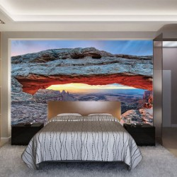 Photo mural rock arch national park in America