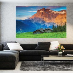 Wallpapers view with hill panorama mountain red rocks