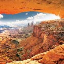 Wall murals beautiful cliffs in orange