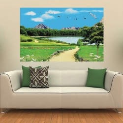 Wallpapers 3D view of lake