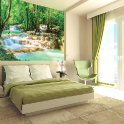 Photo mural waterfall cascades with magnificent views