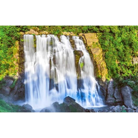 Photo mural an amazing waterfall wall of rock