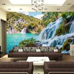 Photo mural big beautiful waterfall rightward